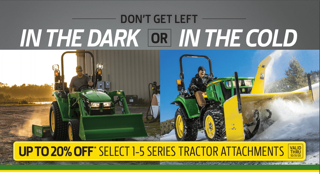 Up to 20% OFF Select 1-5 Series Tractor Attachments