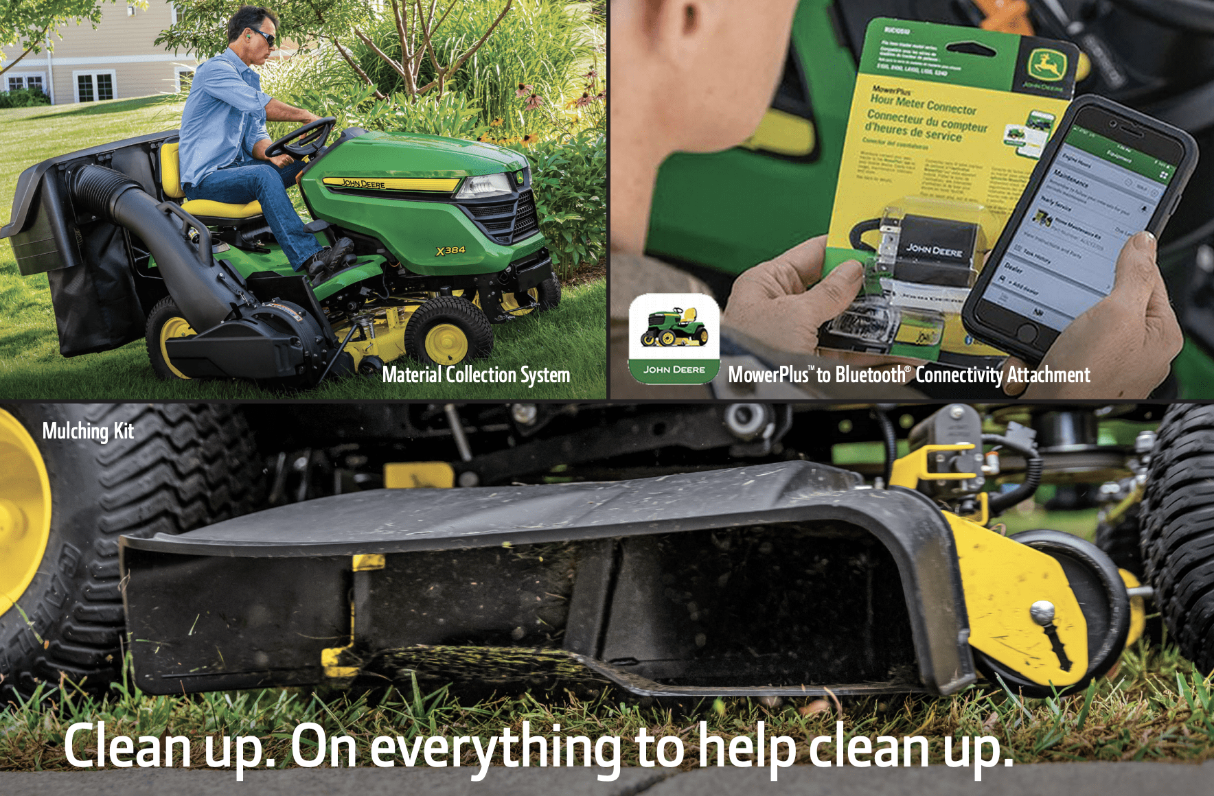 15% Off Material Collection Systems, Mulching Kits & Bluetooth® Connectivity Attachments