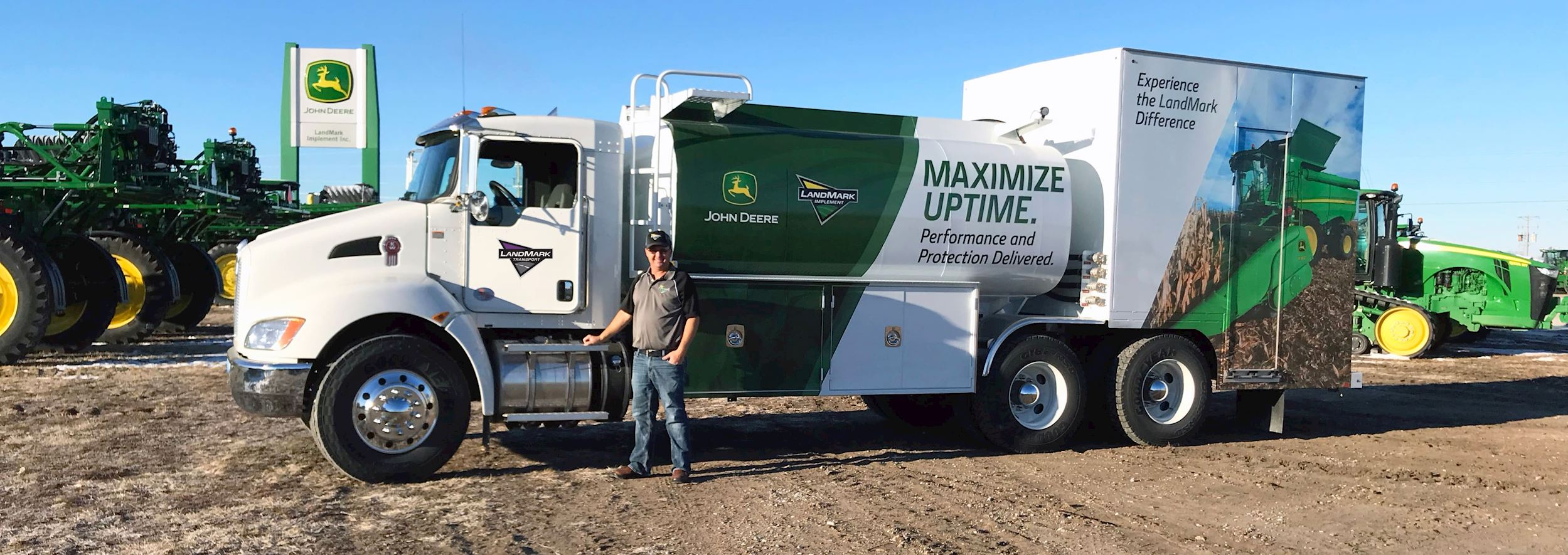 Mike Horky and the LMI Bulk Oil Delivery Truck